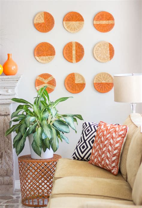 diy home decor how to make placemats and other easy diy basket wall art design improvised