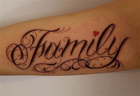 family heart tattoos 20 best family wording on arm