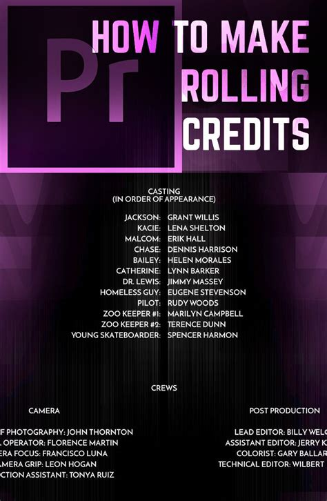 Adobe Premiere Credits Template the 25 best ideas about adobe premiere pro on