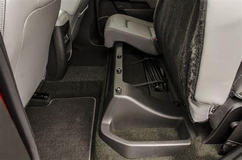 2015 chevy silverado under seat storage live review 2015 chevrolet colorado part two the