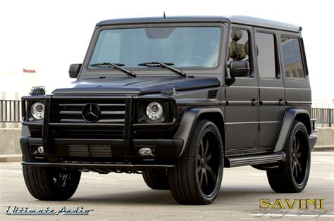 mercedes g class matte black matte black mercedes g wagon on savini sv 28s wheels