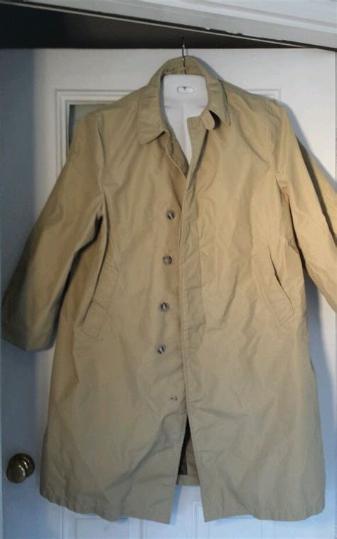vintage orvis raincoat fisherman fishing trench lined