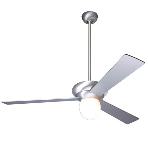 the modern fan company altus ceiling fan brushed aluminum with optional light