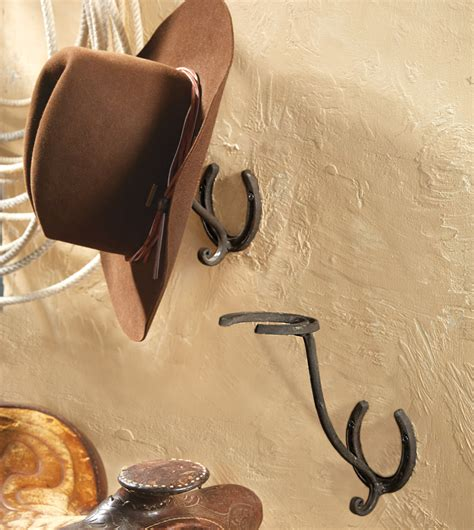 Cowboy Hat Racks Wall Mounted by Horseshoe Cowboy Hat Rack