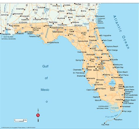 florida cities map map of florida with all cities and towns afputra