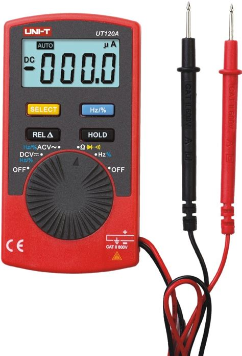 Pocket Digital Multitester Unit Ut 120a With Carrying C Diskon unit ut120a multimeter ekonomiskt och starkt ljus f 246 r hemmet