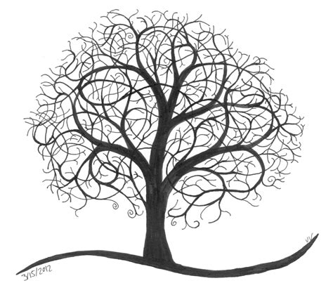 sketched tree the airplane tree ninth circle design