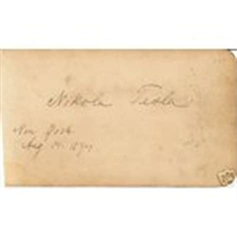 Nikola Tesla Autograph Physicist Nikola Tesla Autograph Died 1943 03 04 2008