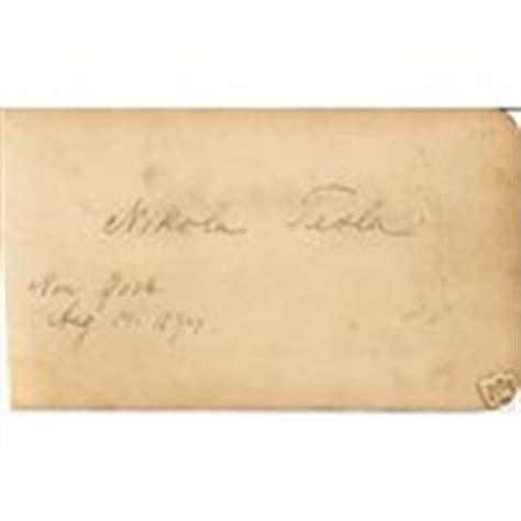 Nikola Tesla Signature Physicist Nikola Tesla Autograph Died 1943 03 04 2008