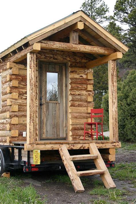 tiny cabin on wheels tiny log cabin on wheels