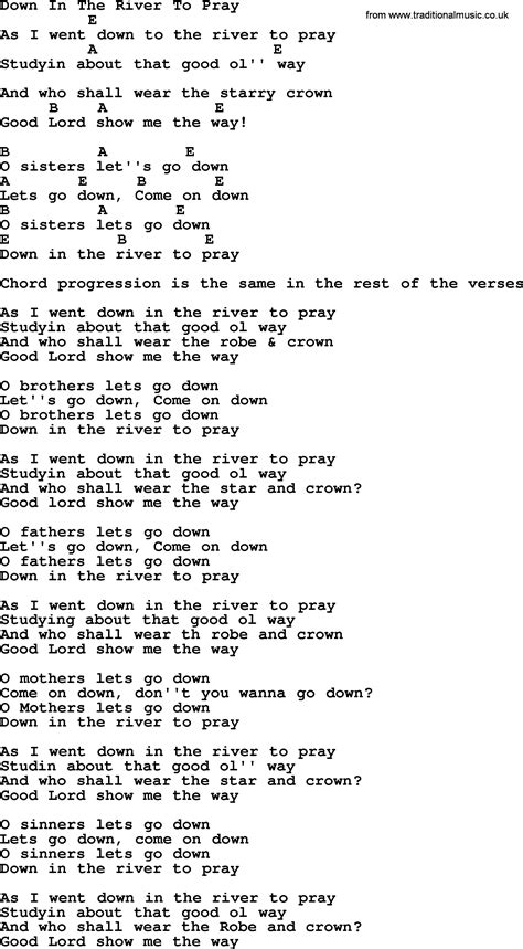 Down To The River To Pray Guitar Chords