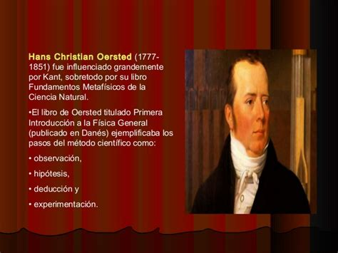 biografia de hans christian oersted historia metodo cientifico