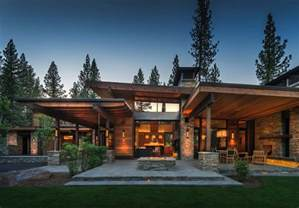 mountain modern home in martis camp with indoor outdoor living mountain modern homes designed with natural materials