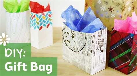 pattern to make a paper gift bag tutorial on how to make your own gift bag using newspaper