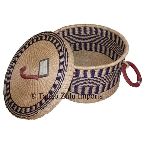 african storage baskets with lids