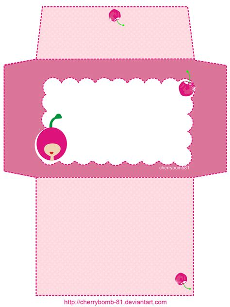 Printable Stationery Envelopes | stationery envelope cute pink by cherrybomb 81 deviantart