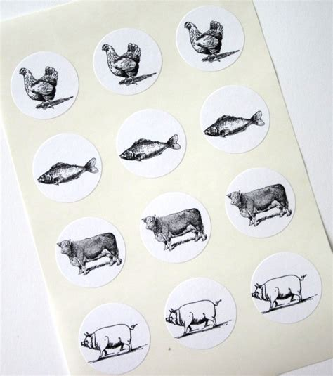 stickers for card wedding response cards food choice stickers one inch seals