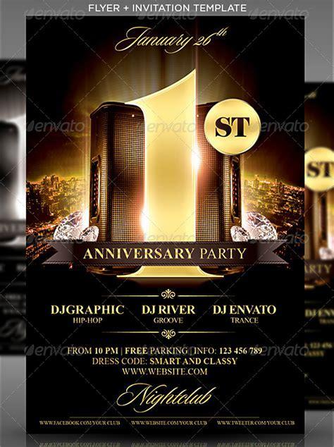 15  Anniversary Flyer Designs in PSD   Design Trends