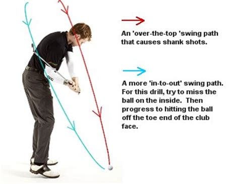 in to out golf swing golf shank fix drill 1 free online golf tips