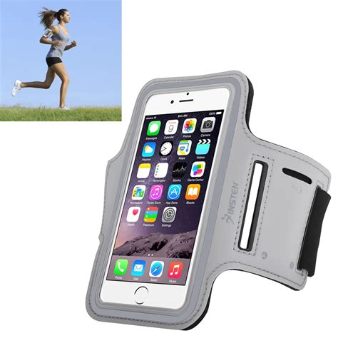 Universal Sports Armband With Key Storage L Size Ze Ad410 insten 2037123 universal armband for sports running with built in key holder silver shop