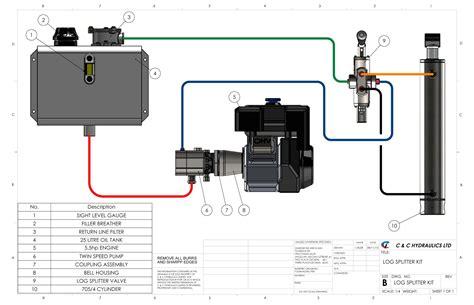 log splitter hydraulic valve diagram single acting valve diagram acting elsavadorla