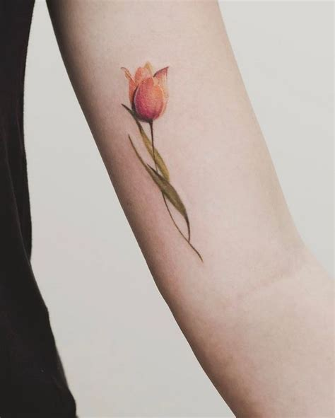 tulip tattoos designs exceptional flower design ideas for of all age