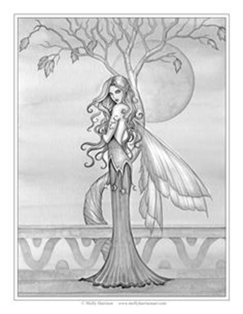 the enchantment of elves a magical greyscale and line colouring book of the of elves books free coloring page quot fall quot by molly harrison