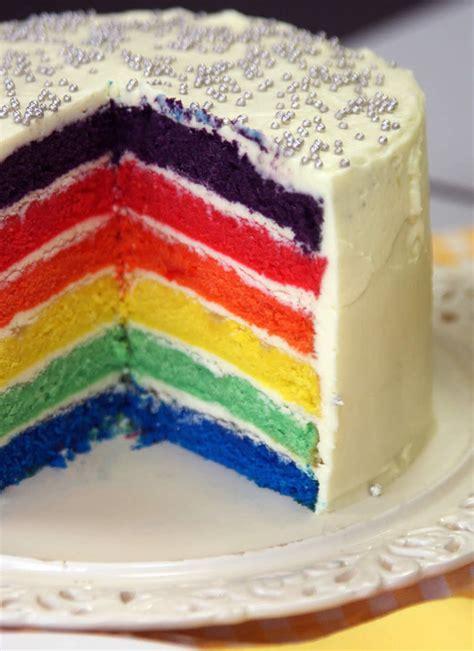 regenbogen kuche rainbow cake regenbogen kuchen usa kulinarisch