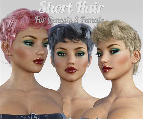 download hair dope g short hair for g3 female s 187 topgfx daz3d renderosity
