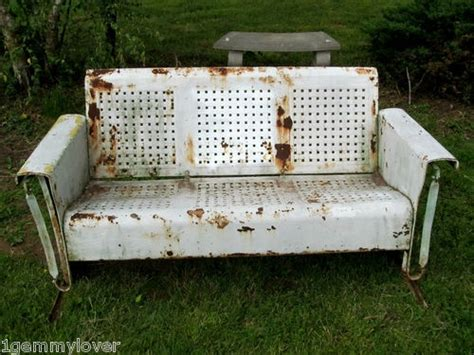 vintage metal glider bench vintage metal patio glider bench garden furniture pickup