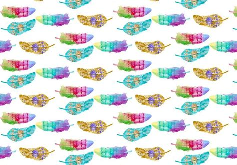 free vector watercolor bohemian feather pattern download free pattern watercolor bohemian feather download free