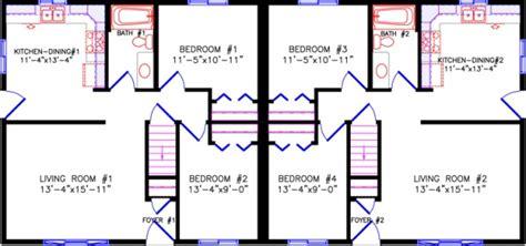 floor plans for duplexes 2670 duplex
