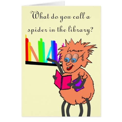 Jokes To Put On A Birthday Card Spider Joke Birthday Zazzle