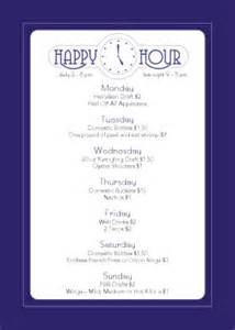 Happy Hour Menu Template by Cocktail Happy Hour Table Tent Happy Hour Menu