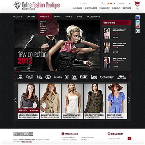 online fashion boutique magento template short review