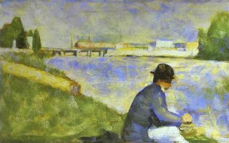 seated model side view 1887 georges seurat oil georges seurat paintings oil paintings reproductions