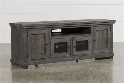 Rustic Home Decor Catalogs by Sinclair Grey 74 Inch Tv Stand Living Spaces