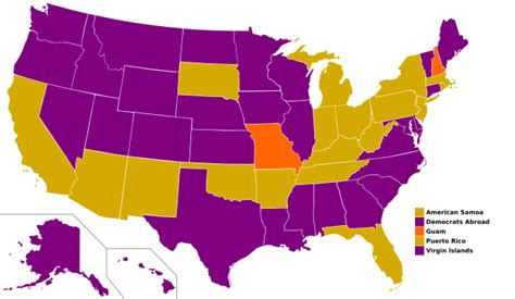 Us Delegates By State Statewide Opinion Polling For The Democratic