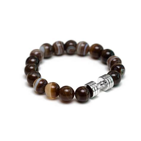 Agate Bracelet brown agate dumbbell bracelet the lucky charm fitness