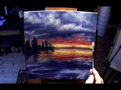 free painting lesson free acrylic painting lesson in real time frozen surreal