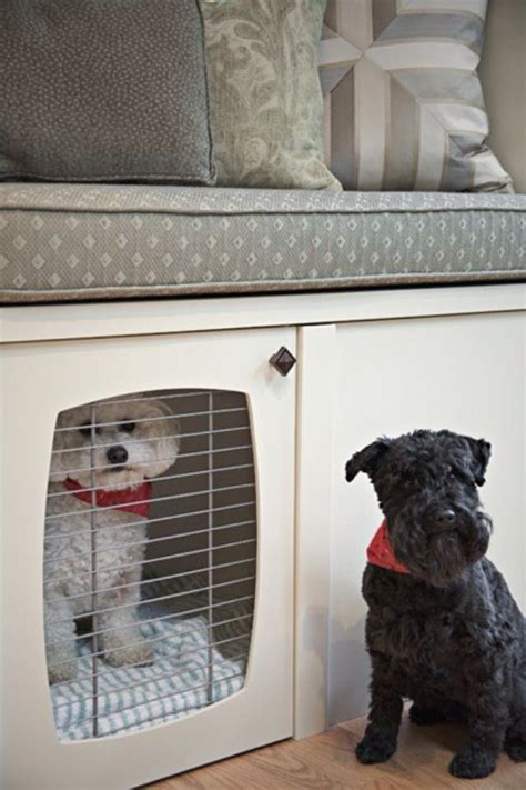 dog crate bench seat dog cages under a window seat for hank pinterest