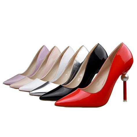 shoes for heels 10 5cm pearl thin heels high heels 6 colors