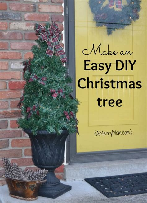 front porch christmas trees decorating the porch with an easy diy christmas tree a