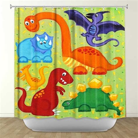shower curtain dinosaur jumble dinosaur bathroom decor
