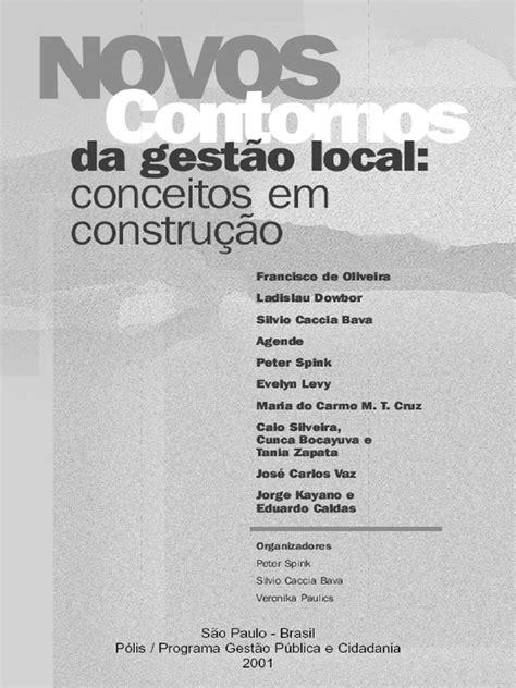 Livro - Novos contornos da gestão local - conceitos em