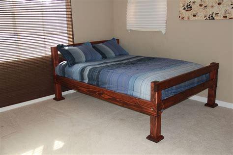 custom  rustic  corner post full size bed  scott