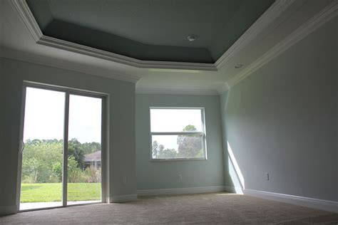 Trayed Ceilings by Trayed Ceiling Gray And Silver Bedroom With Gray