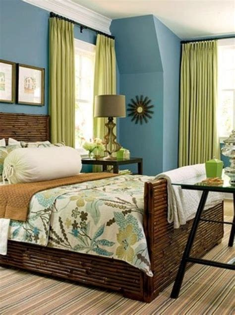 Bedroom Color Schemes Brown And Green 39 Bright Tropical Bedroom Designs Digsdigs