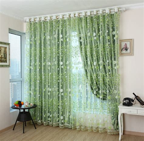 house curtains for sale hot sale high quality green tulle curtains for window