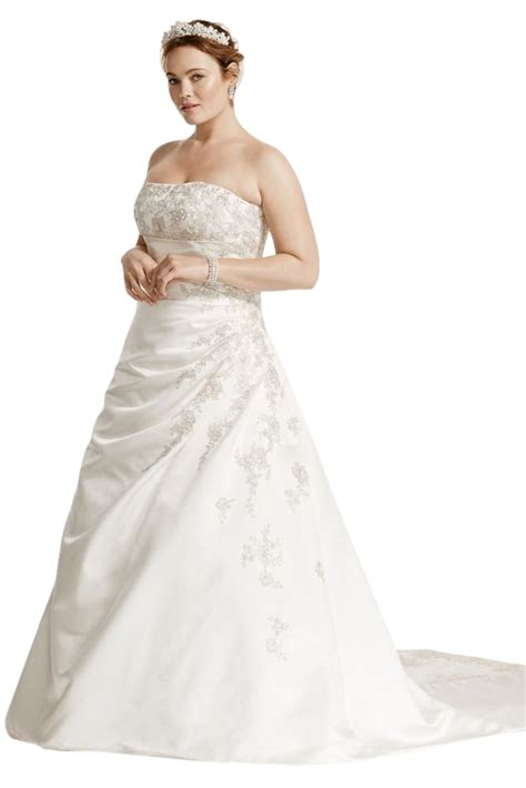 a line plus size wedding dress with up back style